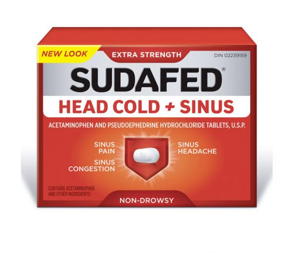 SUDAFED® HEAD COLD + SINUS
