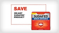 Save on any SUDAFED® product